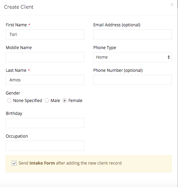 How to send clients intake forms – Bodywork Buddy